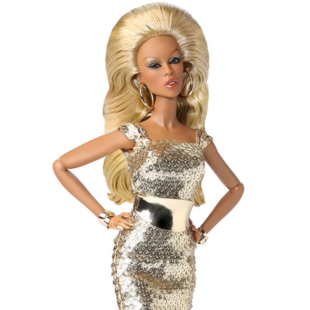 Bling Dolls Gold Maggie Sleeves Sequin Dress with Metallic Gold Belt
