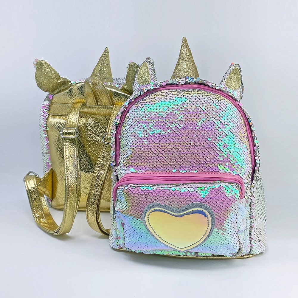 Classic Unicorn Sequin Backpack, Get Ready To School