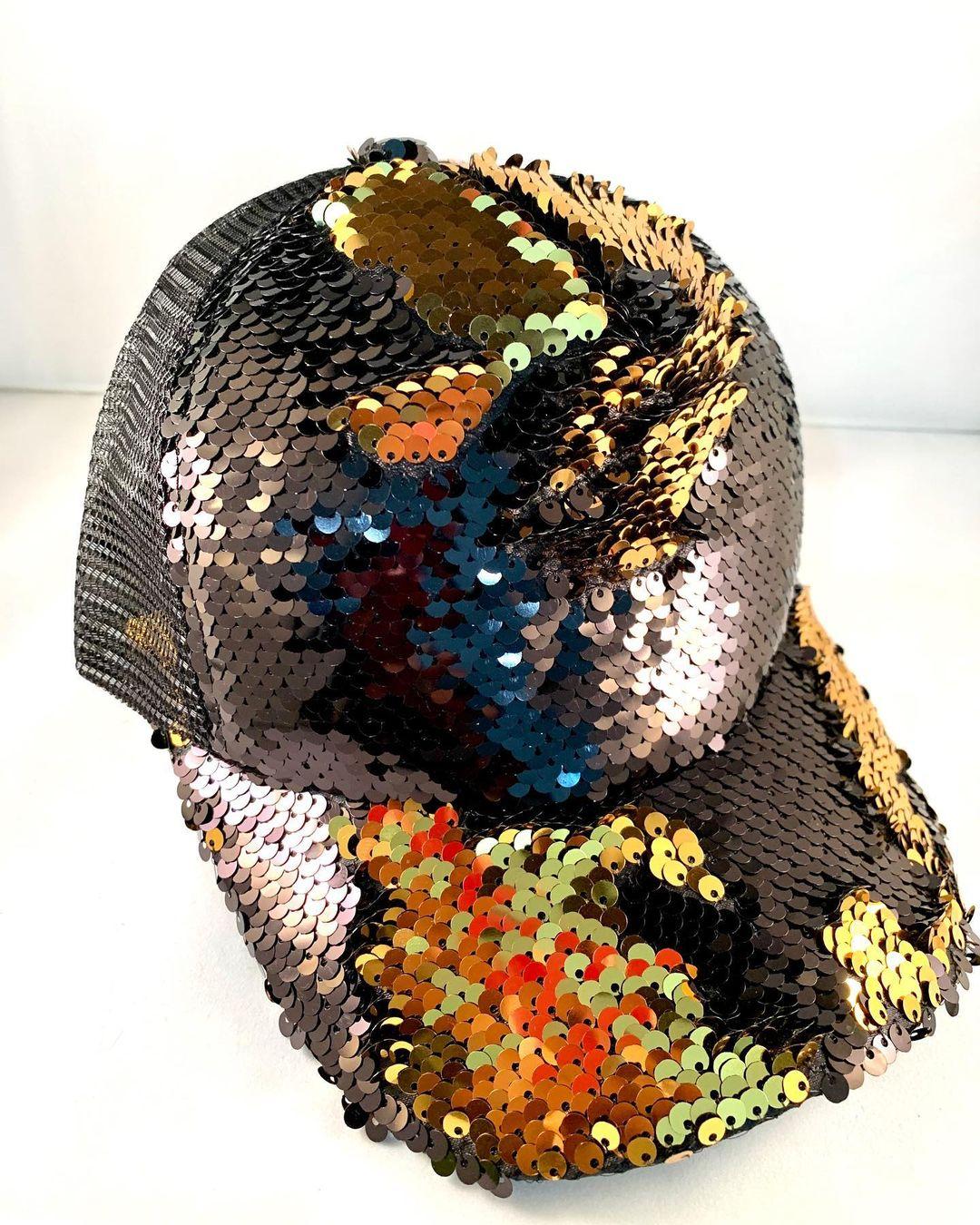 Bling BASEBALL CAPS Multi-Color Reversible Sequins Elegant Women's Cap
