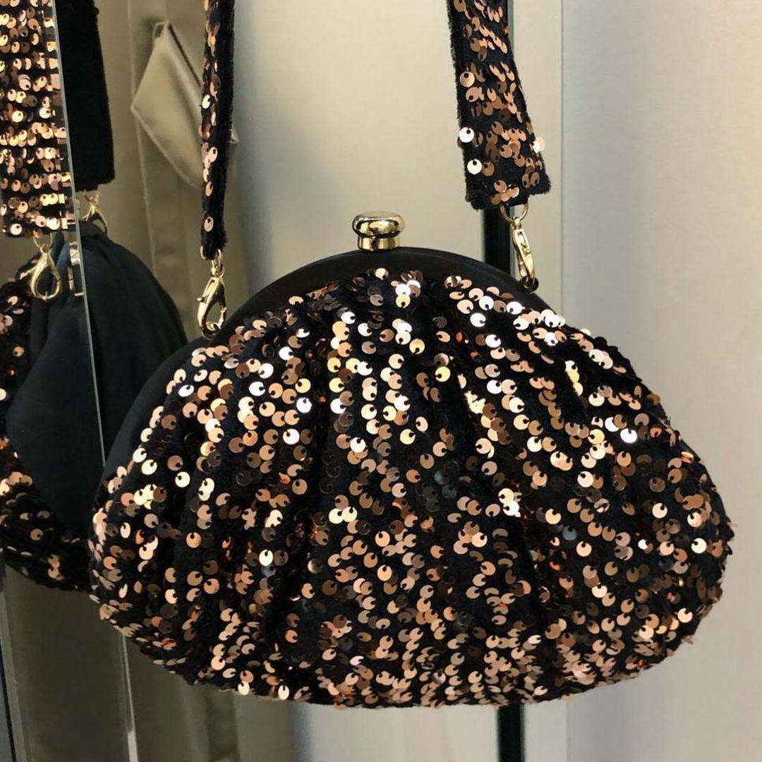 Copper Affair Potli Handbag with Sequins