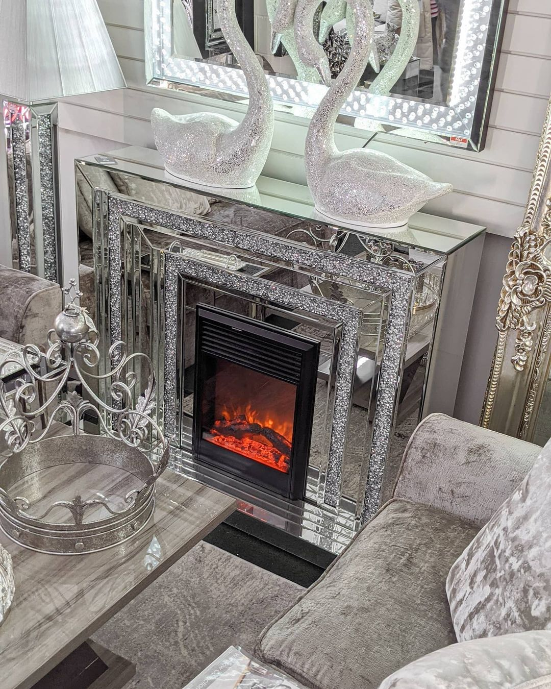 Bling for Your HOME Bling Cosy Vibes Stunning Glass Fire Places