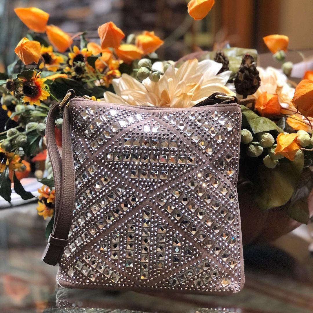 Crossbody Rhinestone Design Handbag