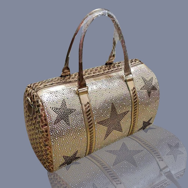 Gold Handbag with Rhinestones BLING BAGS to Update Your Glamour Accessories