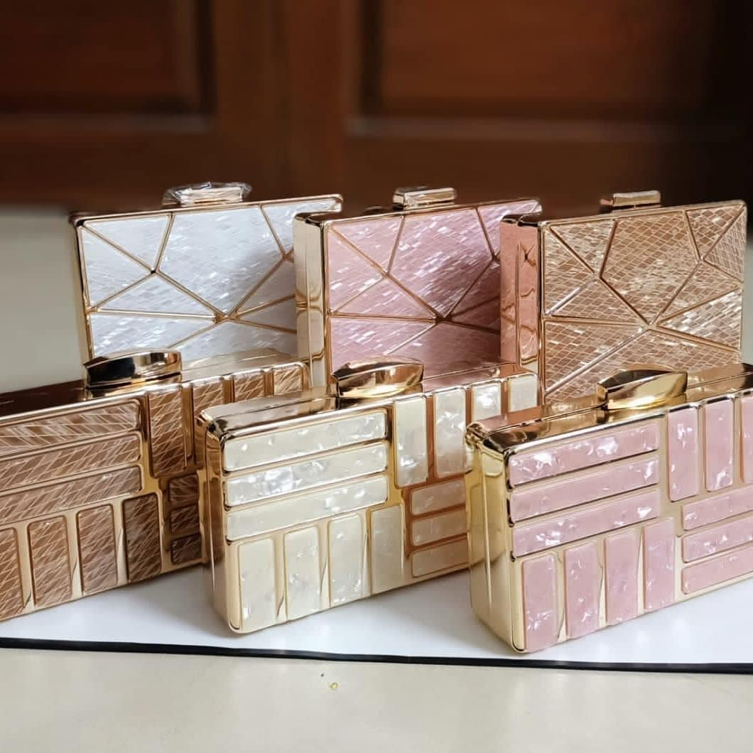Acrylic Marble Clutches