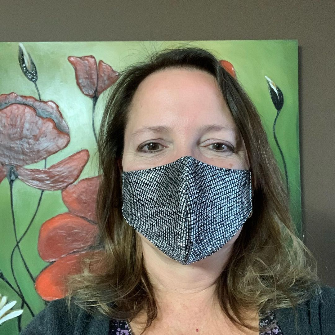 Bling face masks Black and Silver Embellished Rhinestones Face Mask