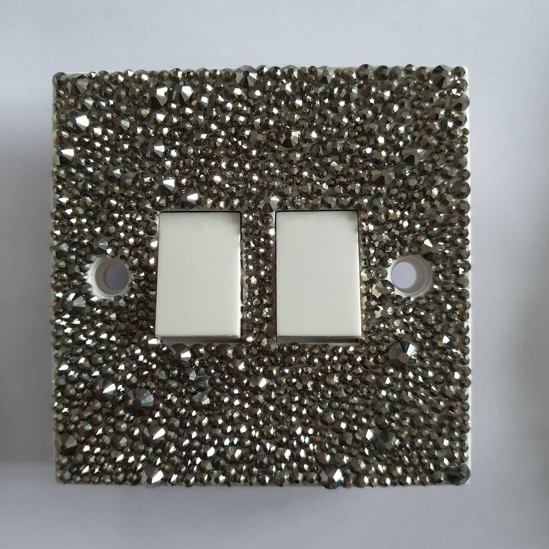 Bling for Your HOME Elegant Black Rhinestone Wall Switch Panel Cover