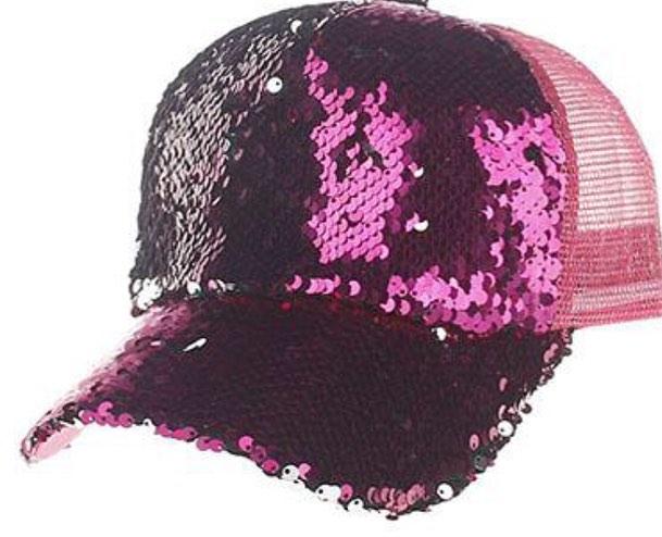 Bling BASEBALL CAPS Women Purple Cap with Sequins