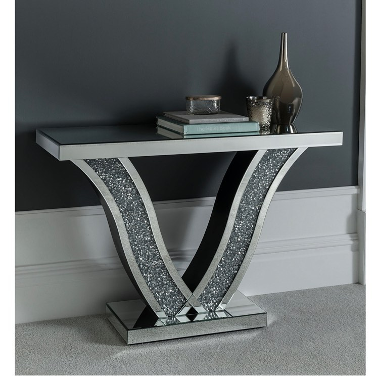 Bling for Your HOME Metallic Color Home Decore Table with Glittering Stones