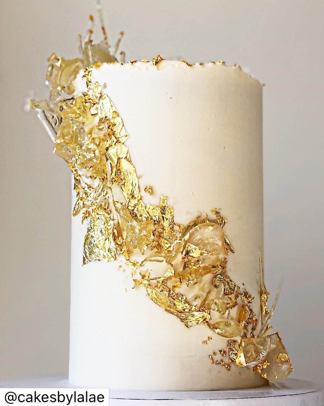 Gold Bling Food Cake Coated with 24K Gold