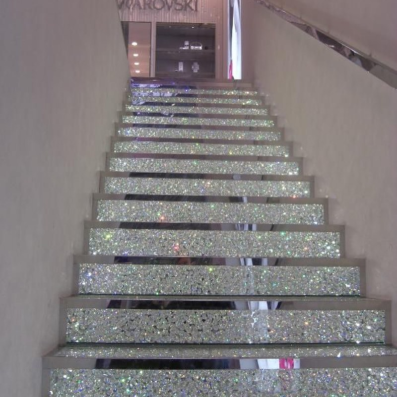 Bling for Your HOME Glittering Silver Stair Ways