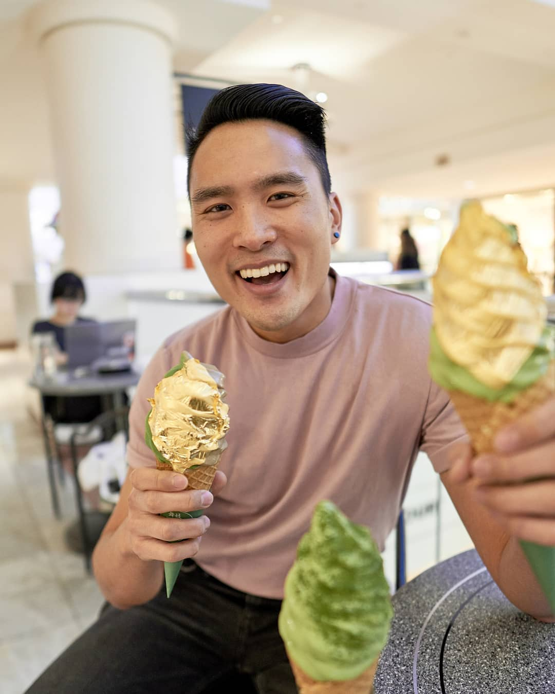 Gold Bling Food Ice Cream Coated with Nothing Less Than 24k Gold