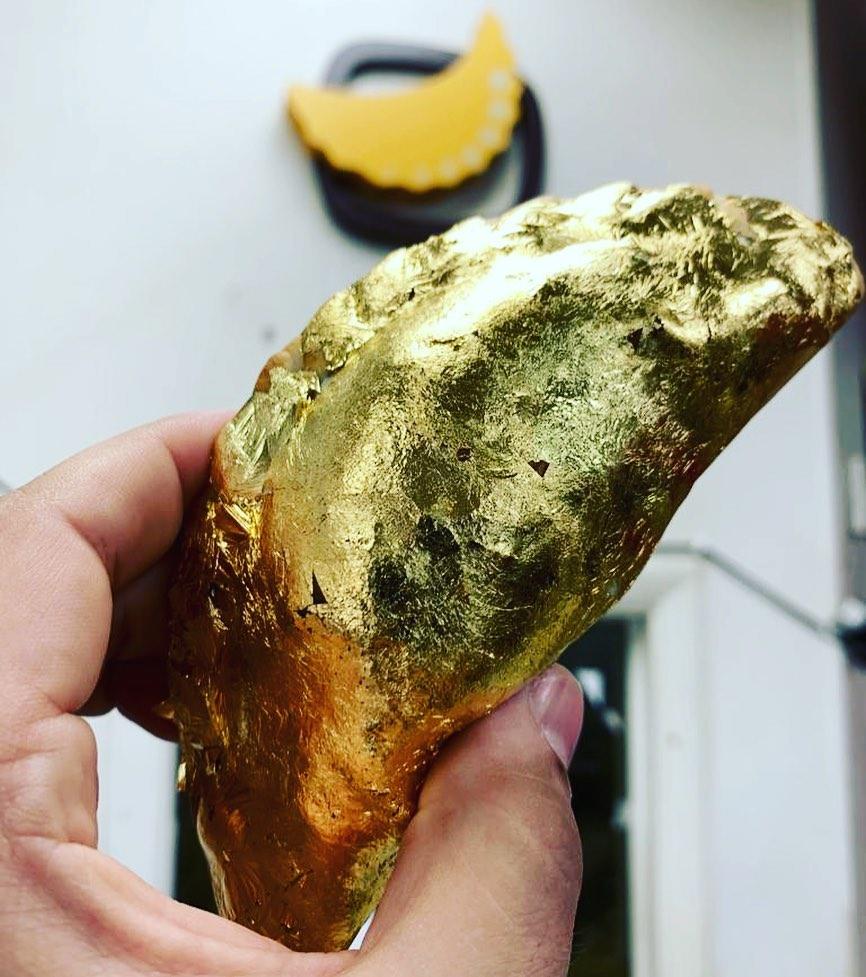 Gold Bling Food Gold Dipped Empanadas