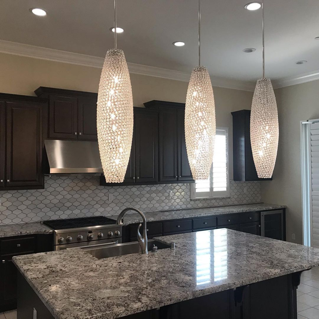 Bling for Your HOME Glittering Crystal Pendants Hanging Lights