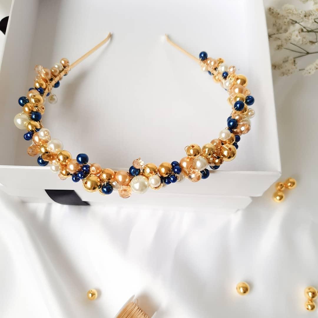 Beautiful Handmade Headband with Colourful Beads