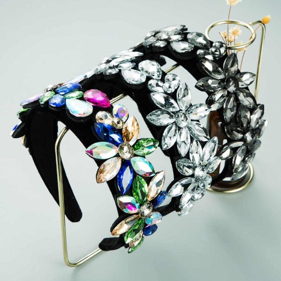 Rhinestone Crystal Diamond Flower Headband