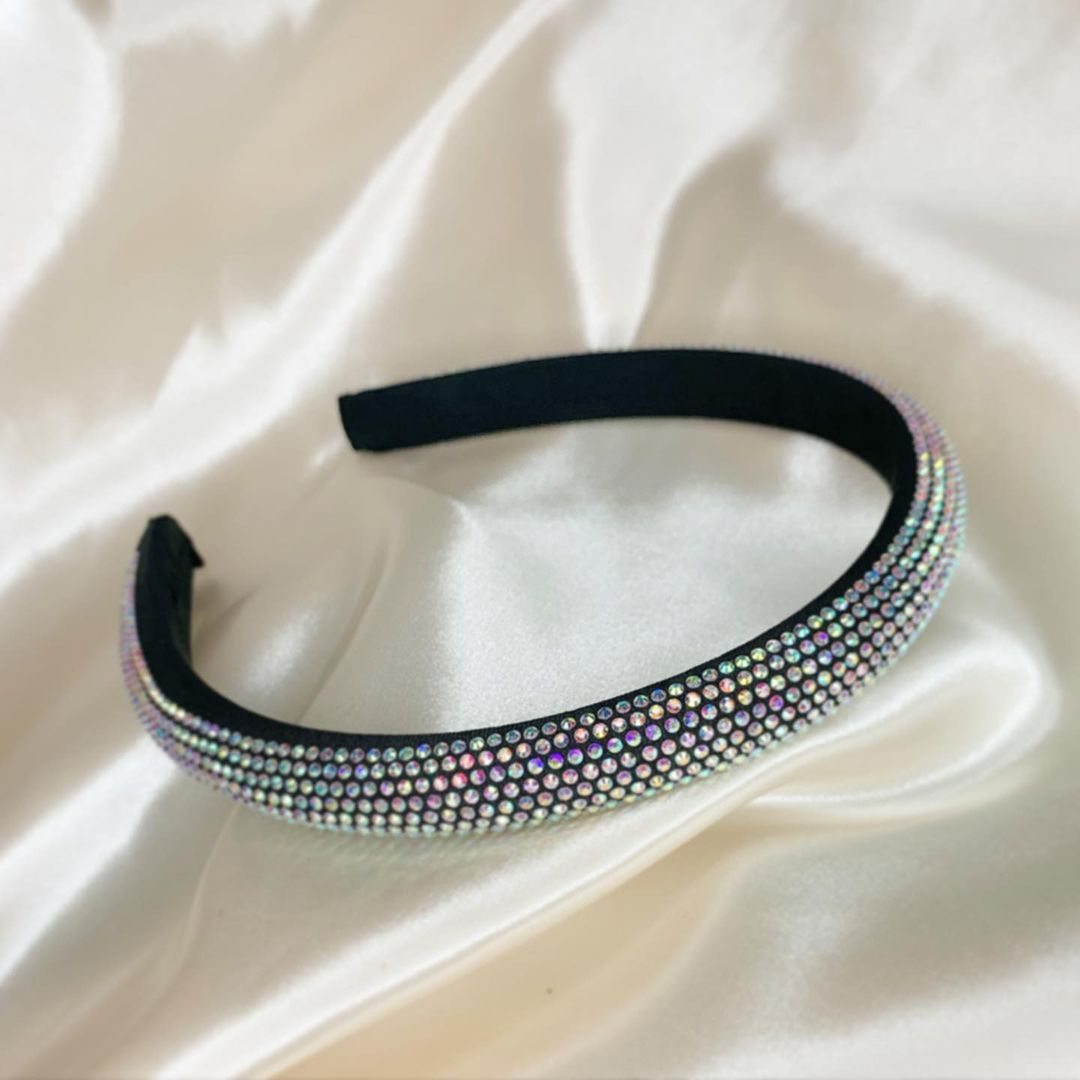 Black Headband with Rhinestones