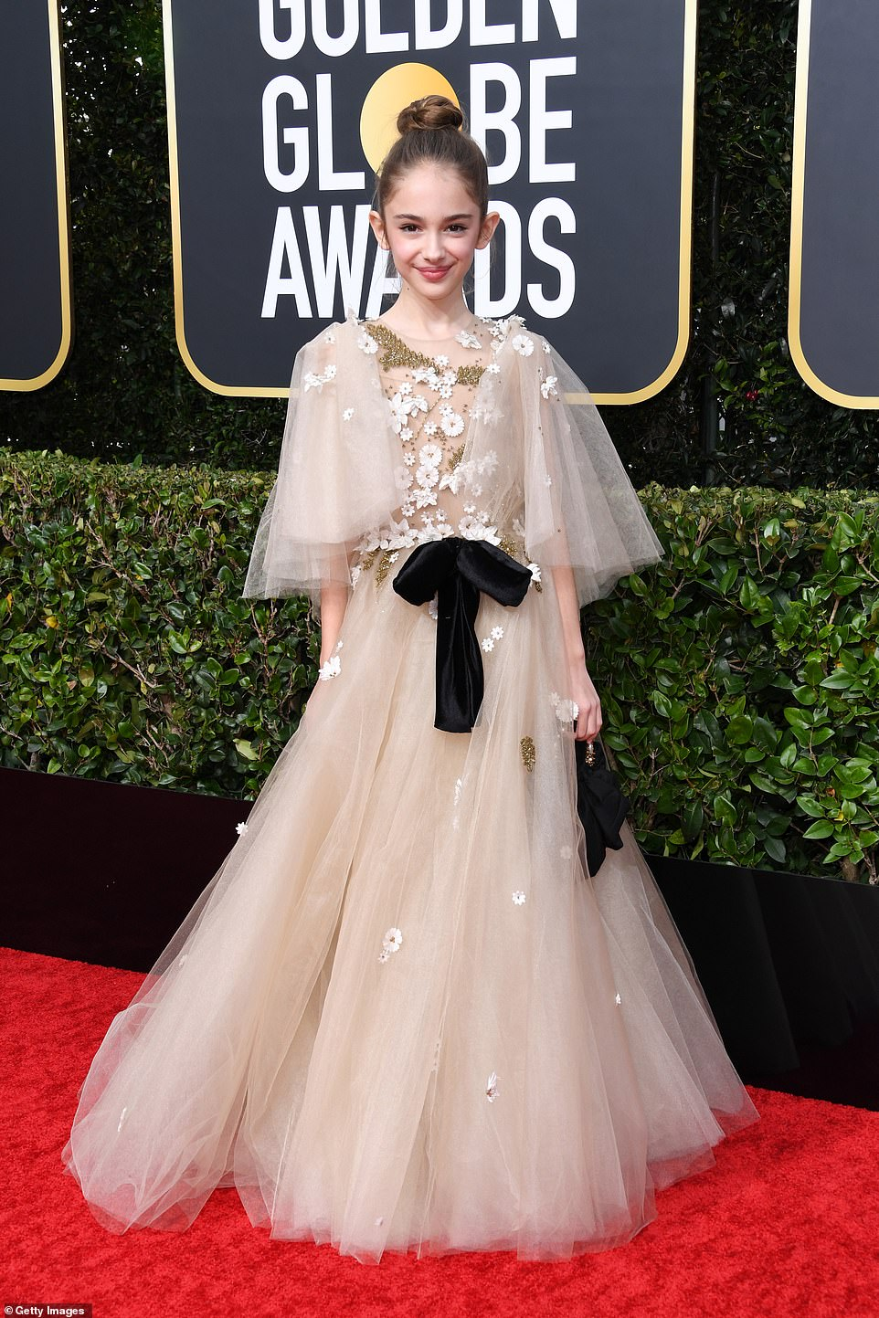 Red Carpet bling Little Julia Butters In A Fairytale Dress with Sequins and Embellishment