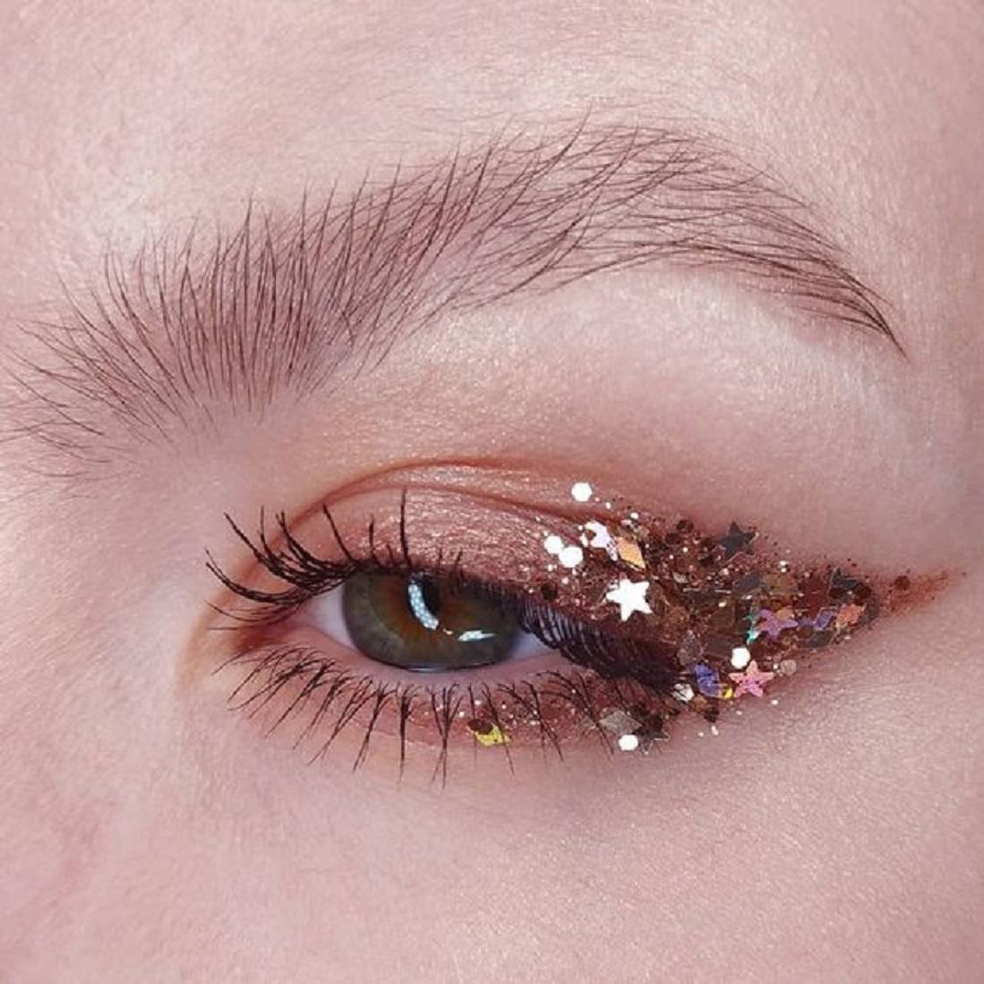 Bling makeup Glittering Stars Eye Makeup Bling