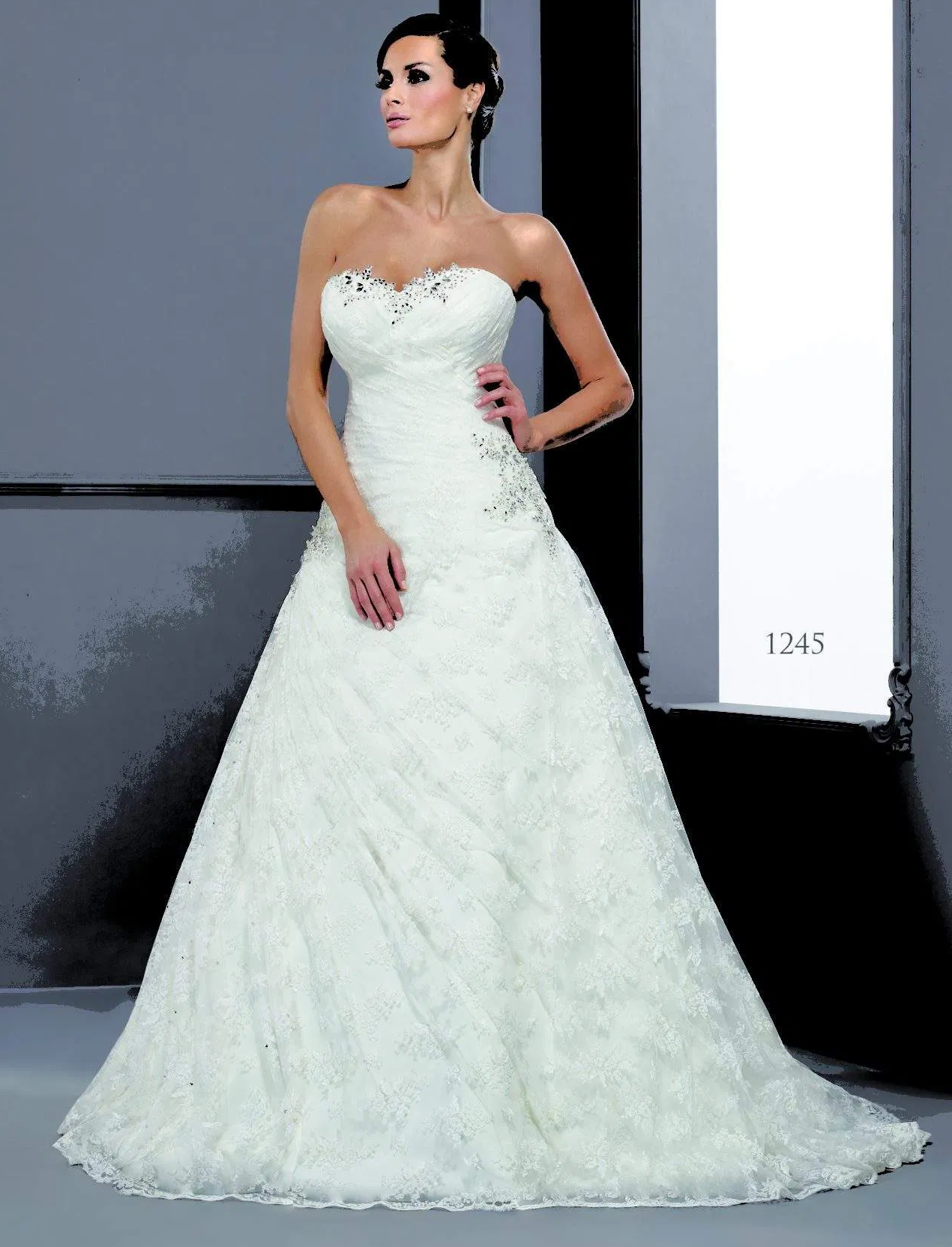 Wedding dress bling The Beaded Applicae on The Ruched Sweetheart Off The Shoulder Bodice Bridal Gown