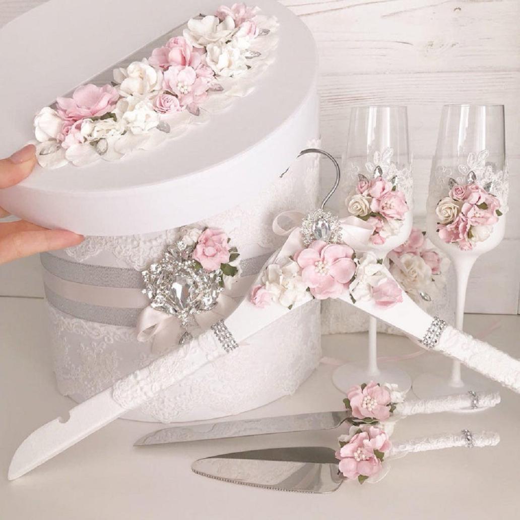 Bling wedding receptions Vintage Wedding Toasting Flutes and Cake Server Sets