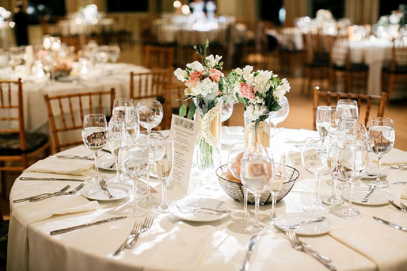 Bling wedding receptions Sparkling Crystal Wine Glasses Ready For Your Toast