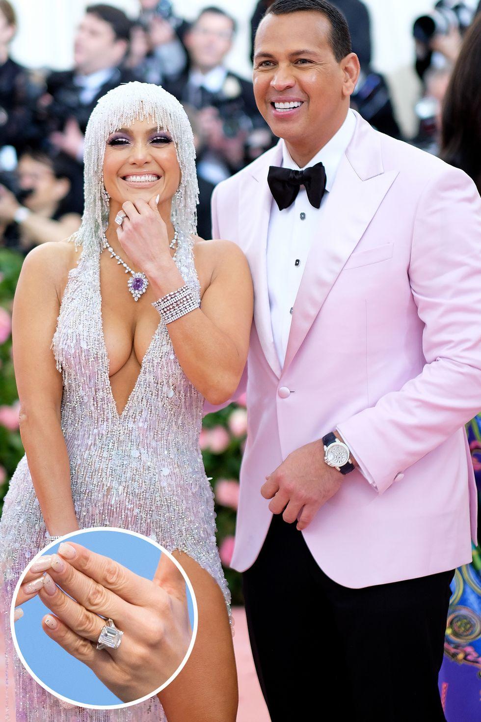 Celebrity Jewelry Jennifer Lopez Wears Her Square Diamond Cut Ring