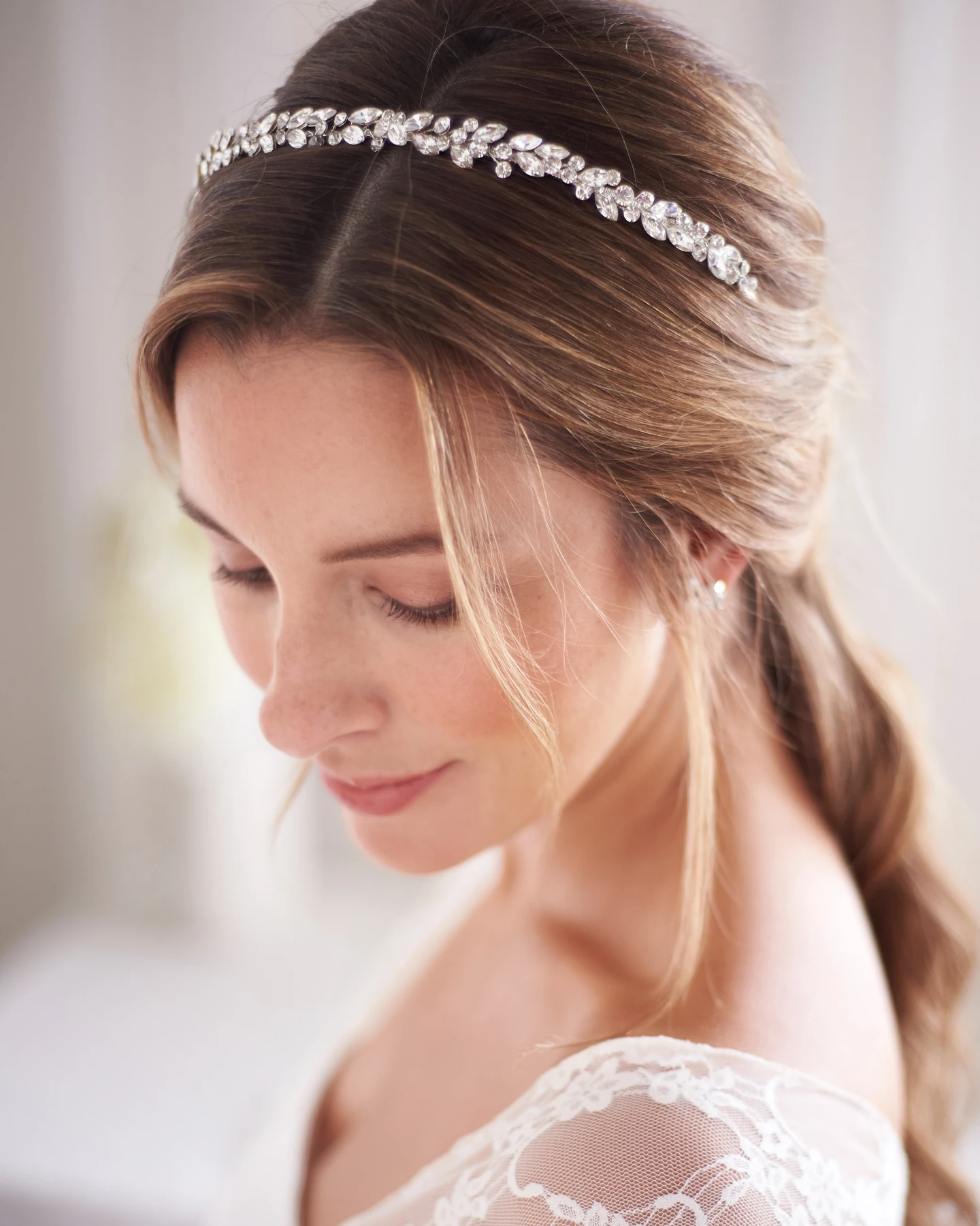 Bling wedding accessories Dainty, Darling & Full Of Lustrous Shimmer Hand-Wired Opals & Crystal Gemstones
