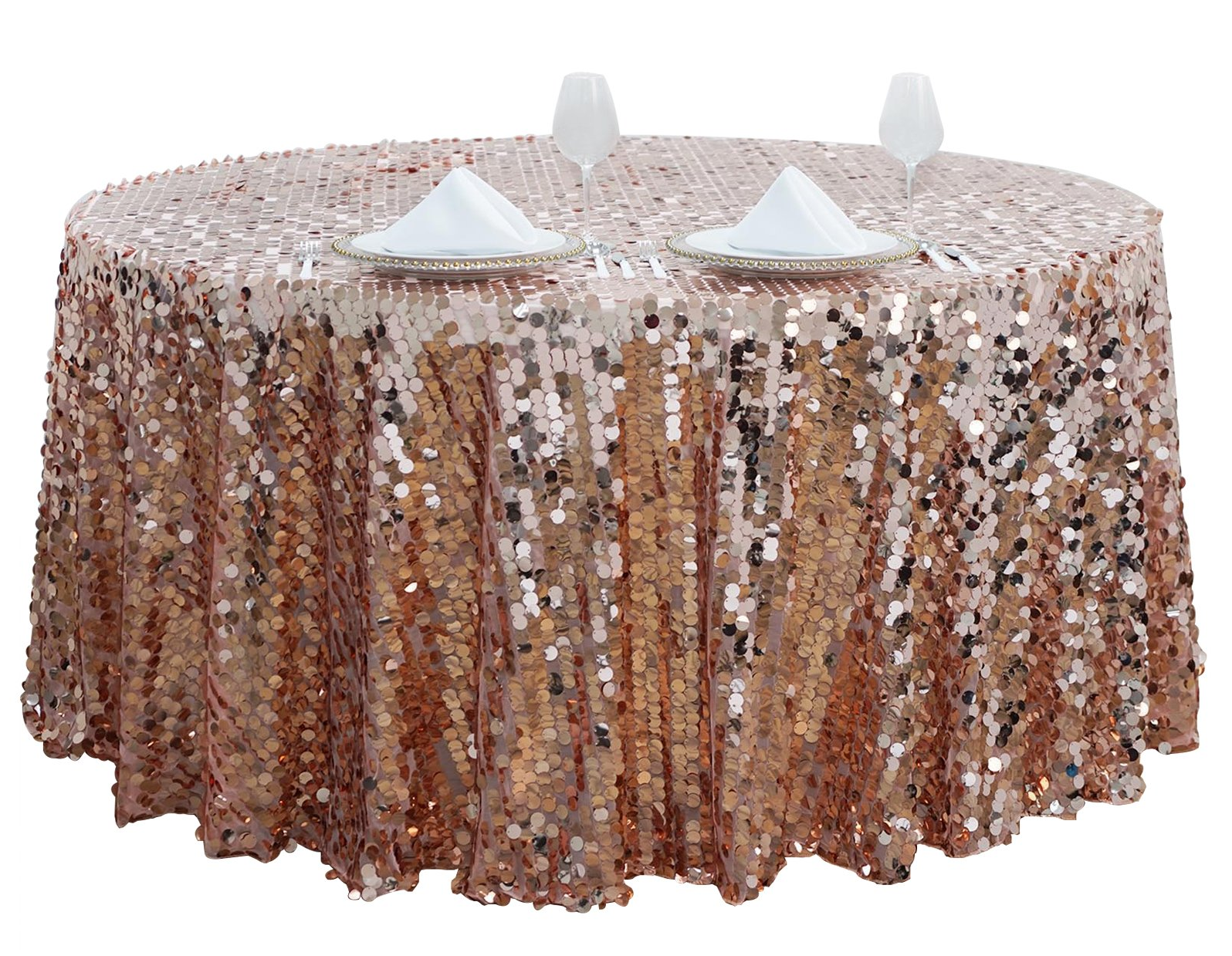 Bling wedding receptions Sequin Tablecloth for Wedding Reception Table Linens