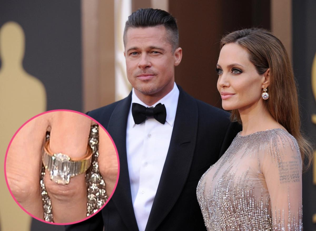 Celebrity Jewelry Angelina Jolie Said Yes To This Custom Made Glittering Diamond Ring