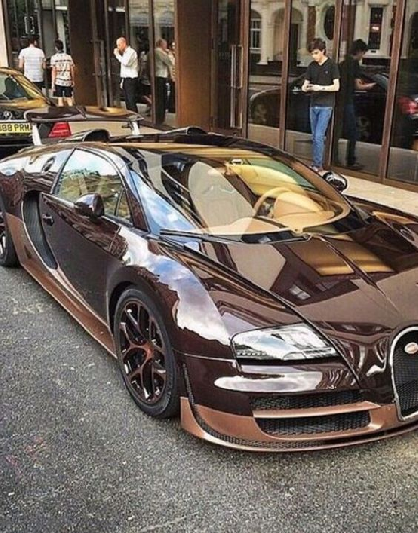 Bling wrapped cars Sparkling Brown with Black Accents Bugatti Car