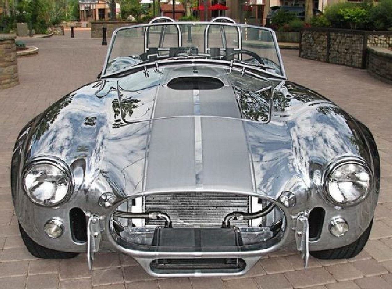 Bling wrapped cars Shining Silver Shelby Cobra
