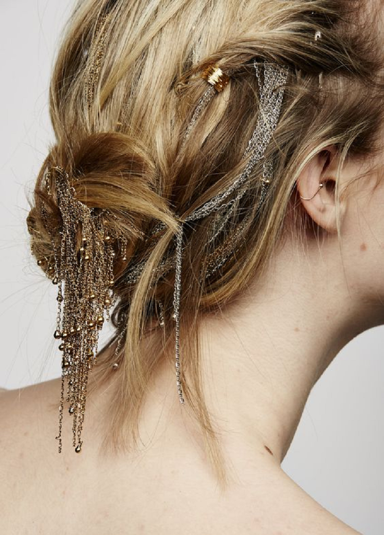 Bling hair accessories Signature Glittering Wire Wrapping Technic Used To Wrap The Hair
