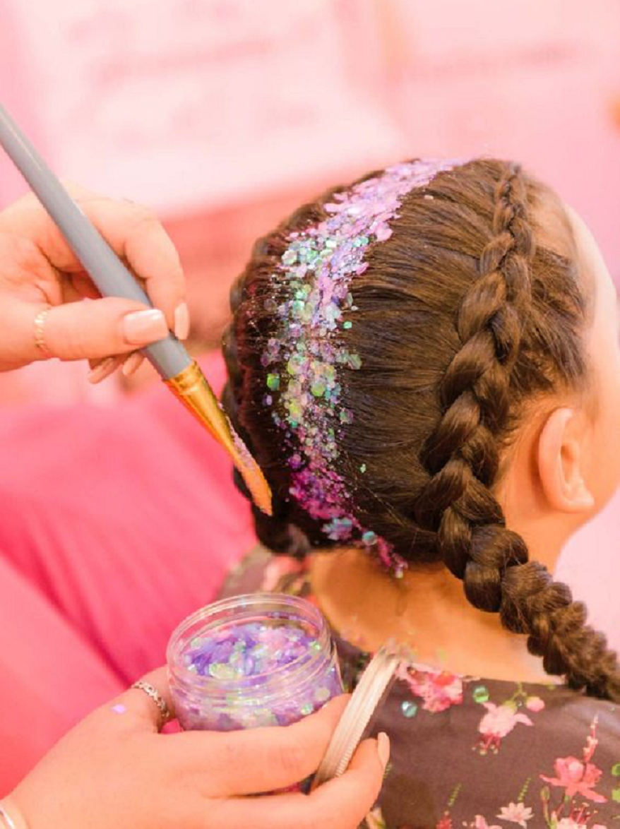 Bling hair accessories Hair Braided with Colourful Glittering Crystals and Rhinestones