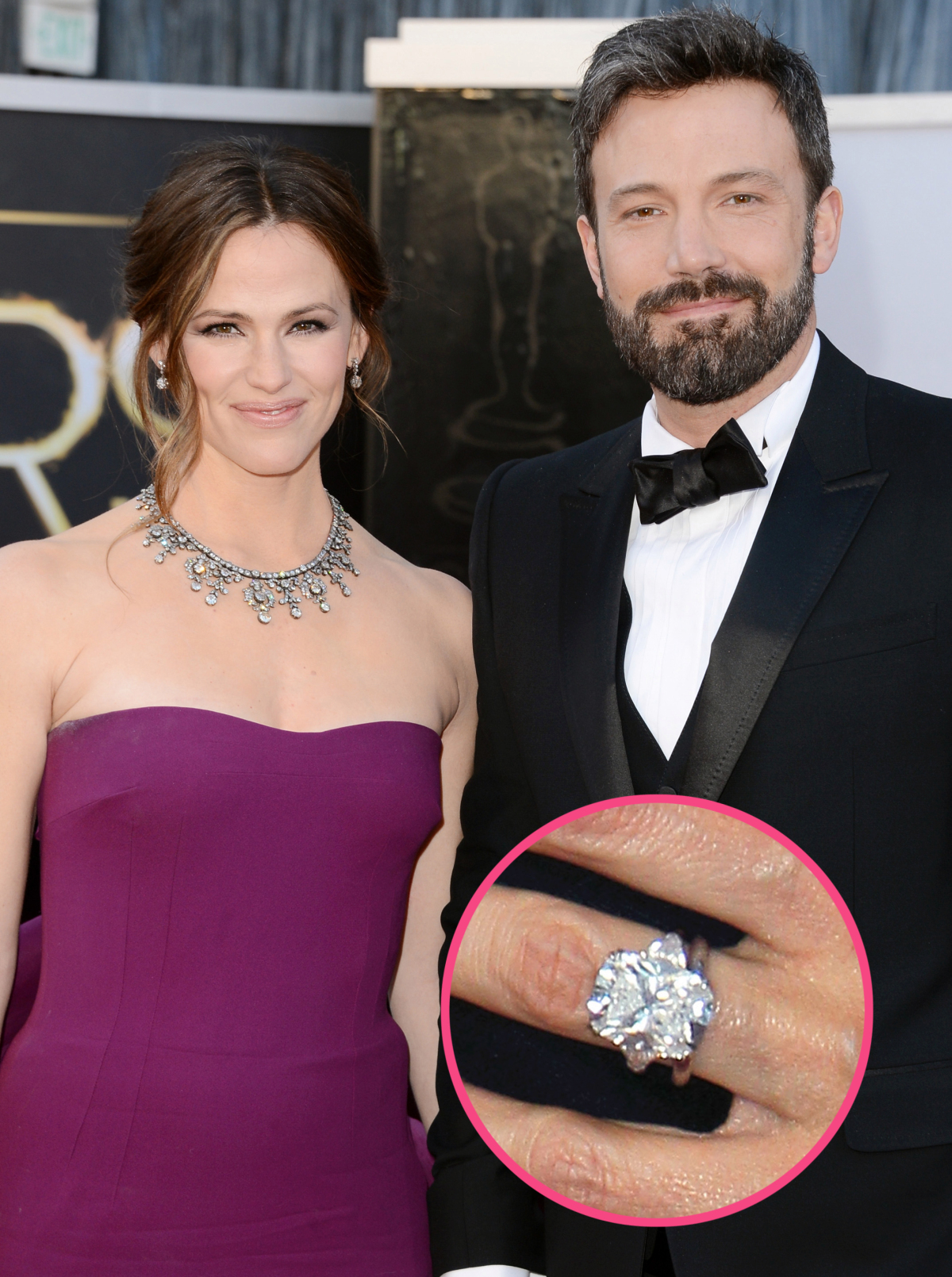 Celebrity Jewelry Jennifer Garner Wears Her 4.5 Carat Diamond Ring