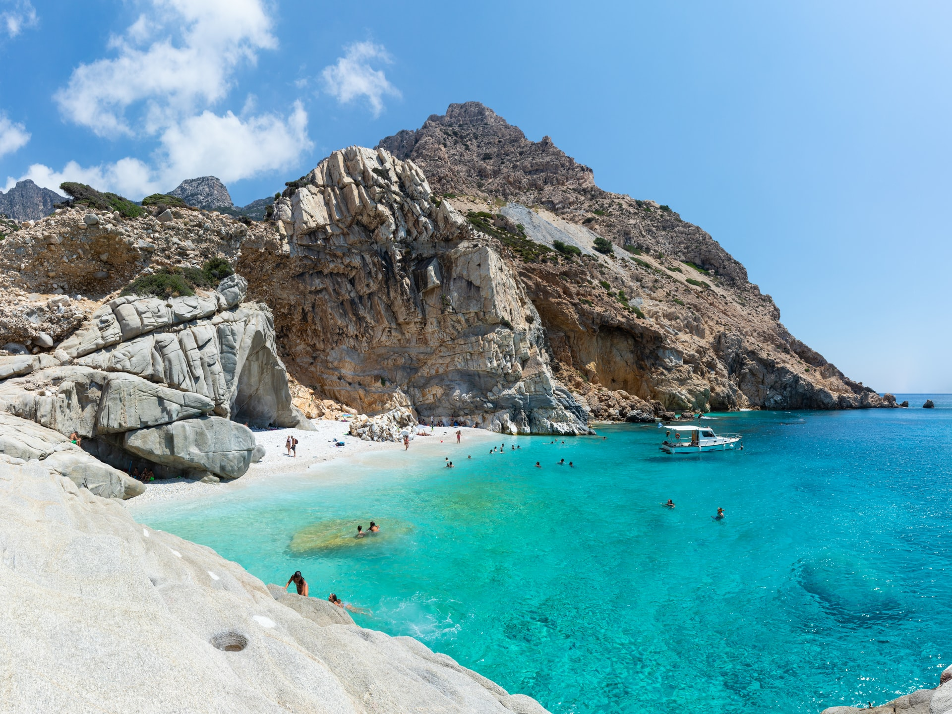 The stunning Mediterranean islands Hidden away beaches like Seichelles on the island of Ikaria are best accessed by boat