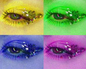 Bling makeup on SequinQueen