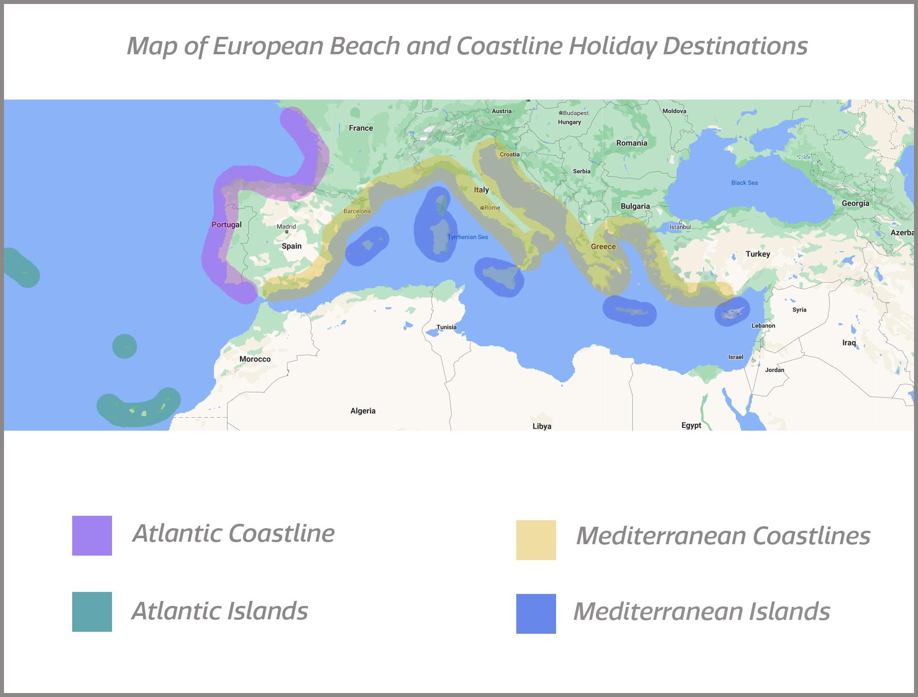 The Glittering Atlantic Islands SequinQueen Map