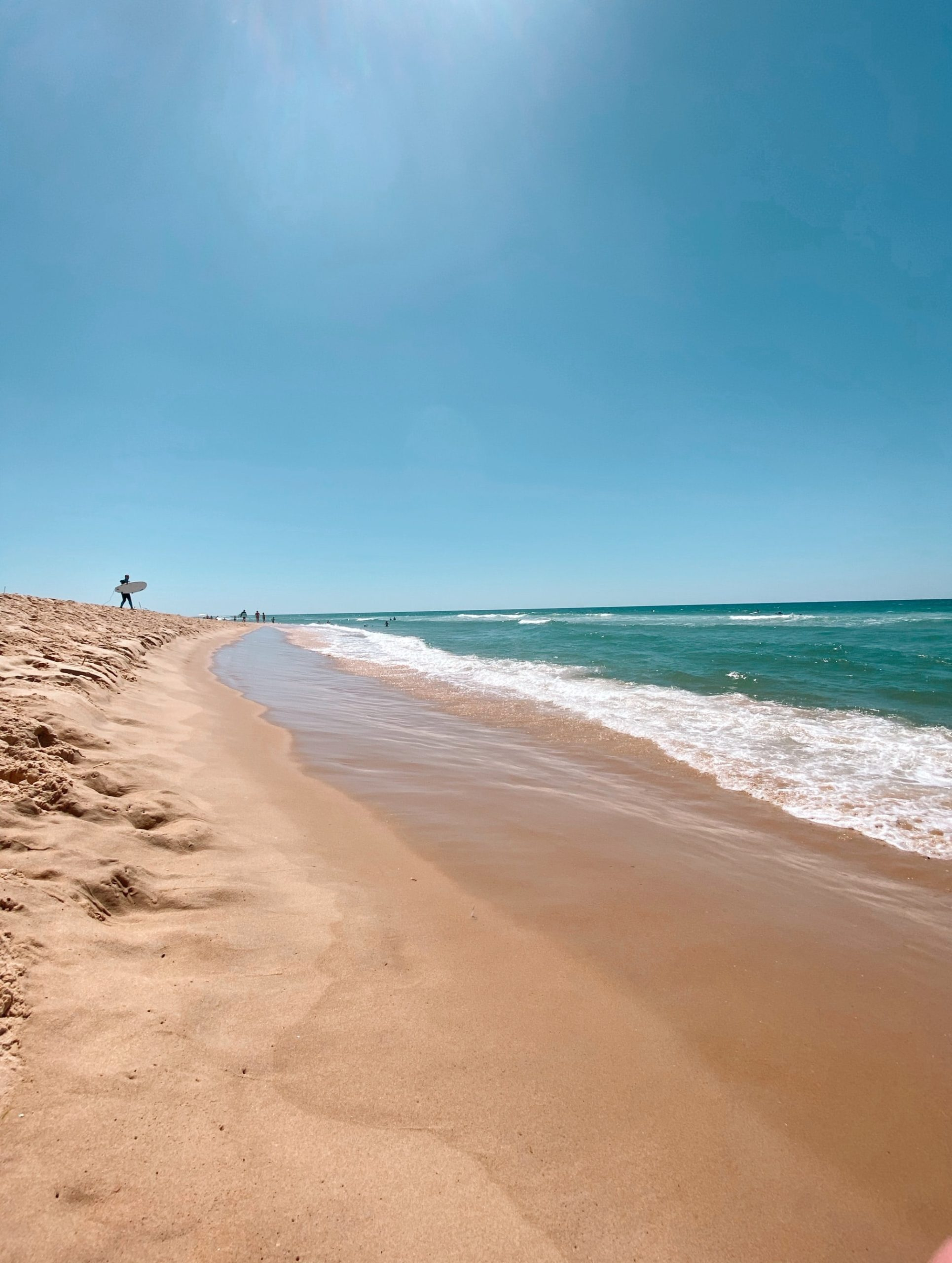 Sparkling European holidays Imagine taking your surfboard across the warm sands at Le Porge, France.