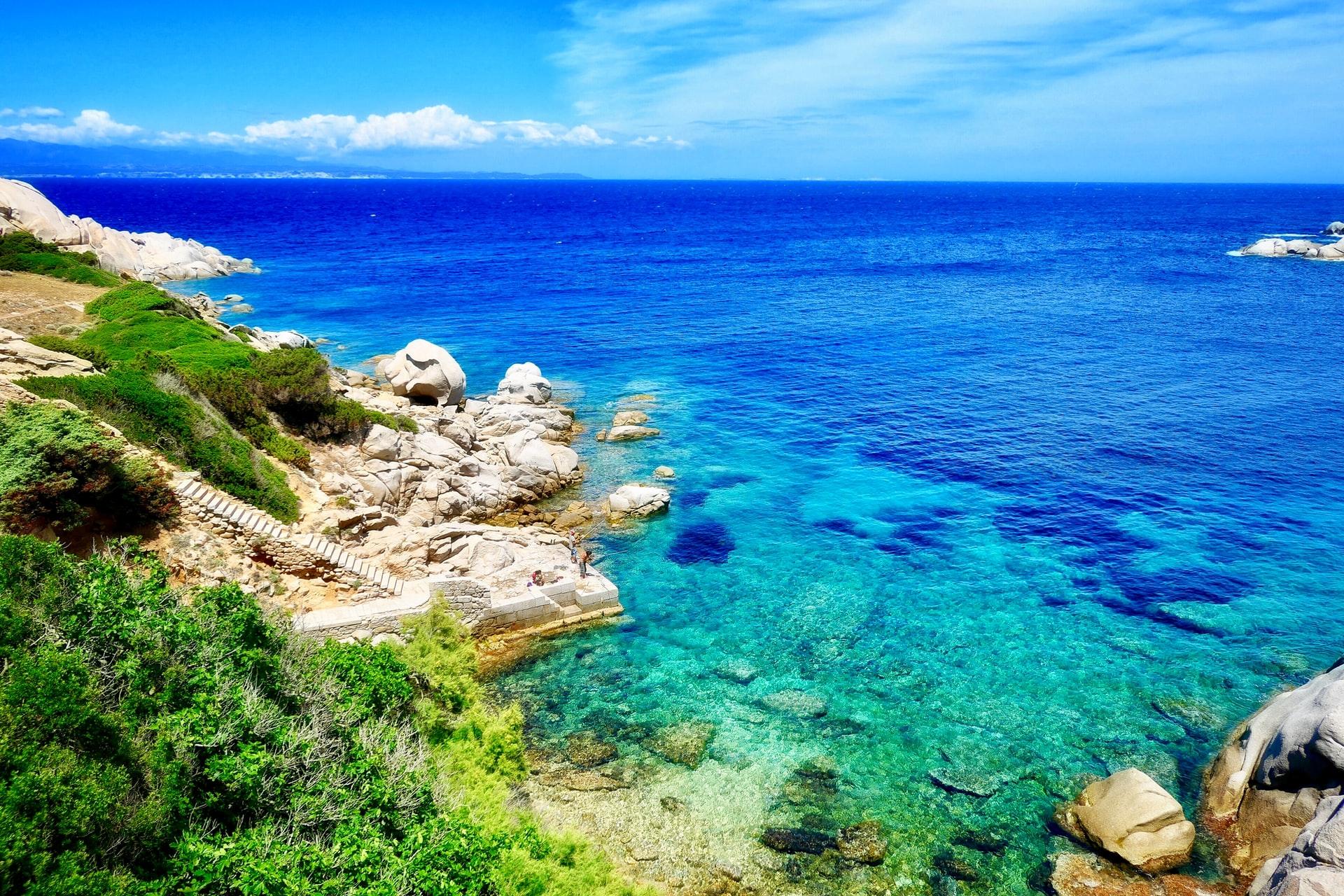 The stunning Mediterranean islands The endless blue of Capo Testa at Santa Teresa di Gallura