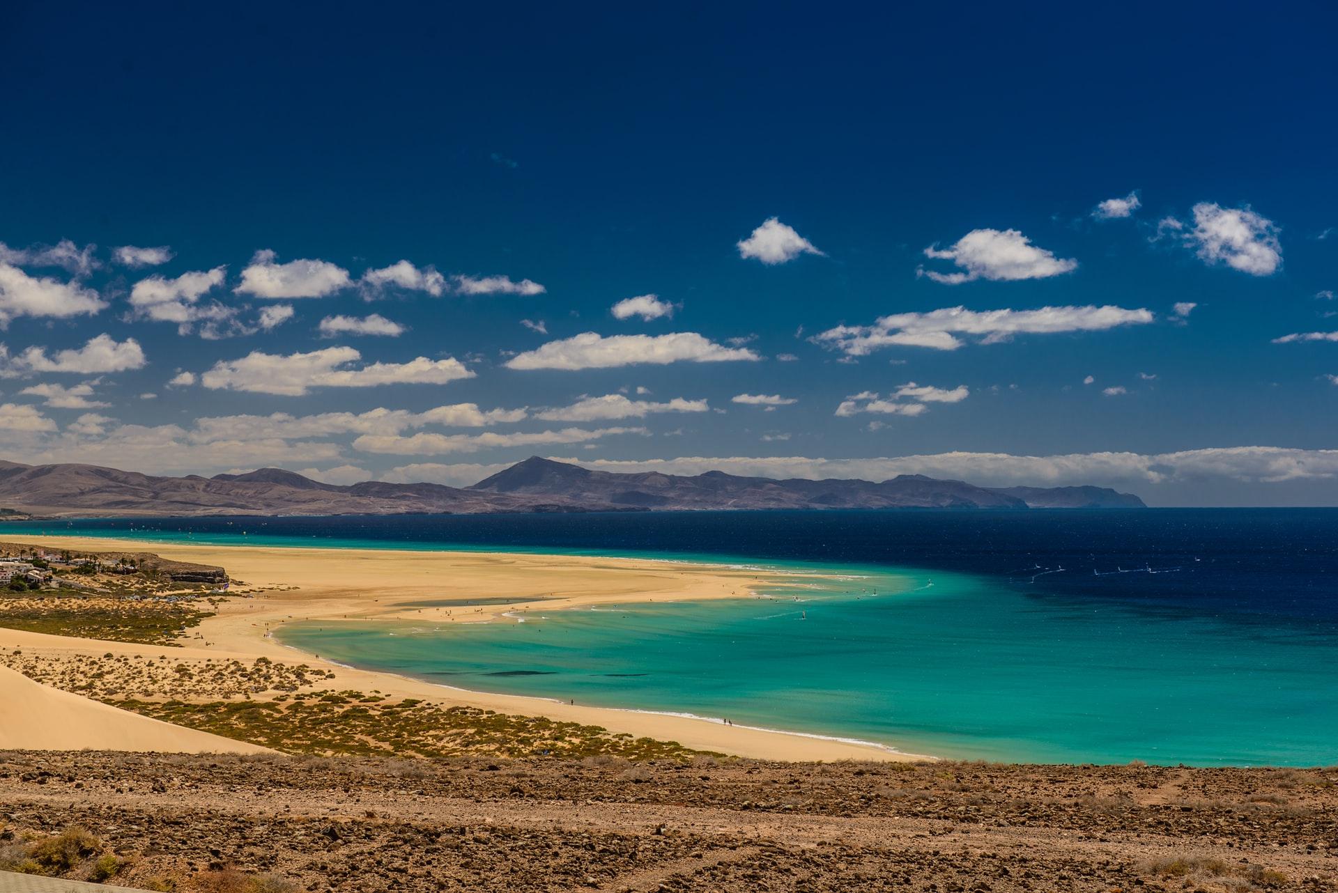 The Glittering Atlantic Islands The endless sands of Fuerteventura