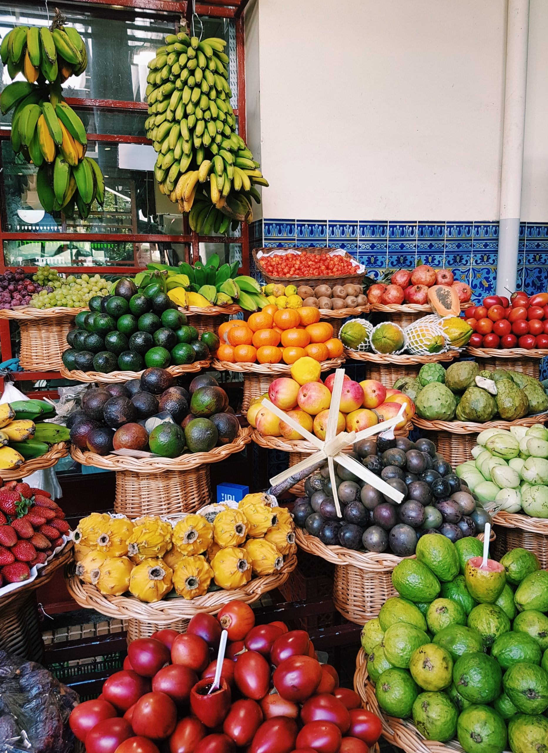 The Glittering Atlantic Islands Gorge on fresh tropical fruits from the Meracado do Lavradores in Funchal
