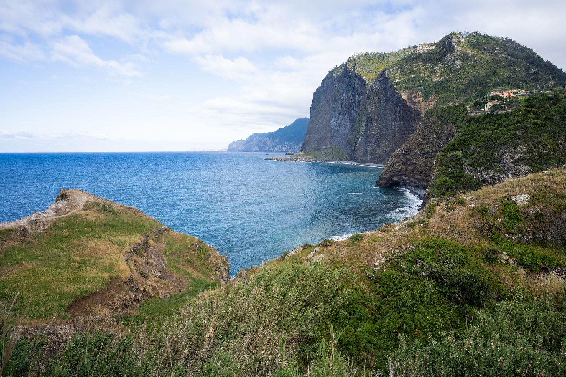 The Glittering Atlantic Islands Many of Madeira's beaches edge dramatic cliffs