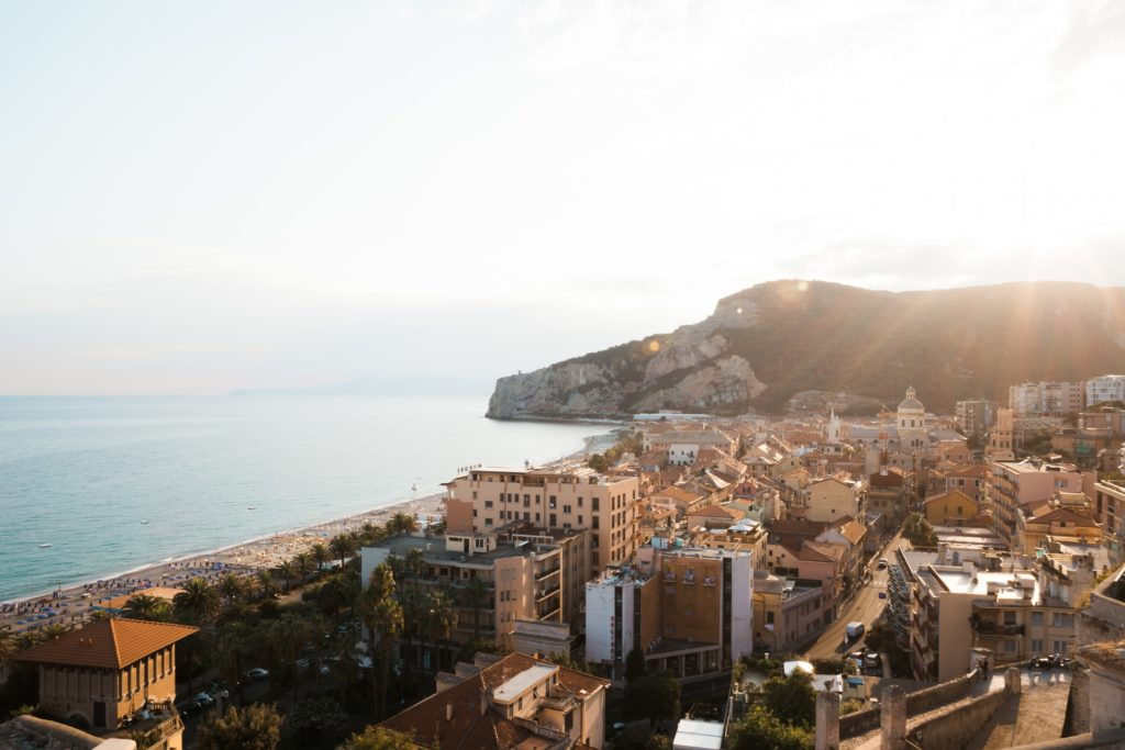 The divine Mediterranean coastlines Beaches, restaurants, cafes, shop and winding lanes in Finale Ligure