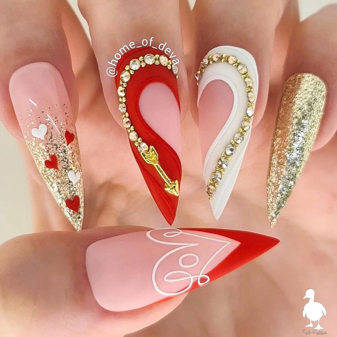 Bling Your Nails for The Valentine's Day