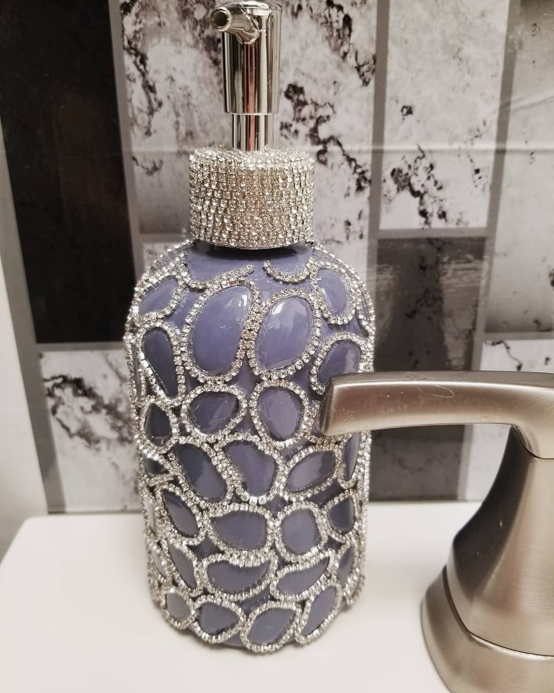 Bling for your bathroom Glam Decor Crystal Bling Soap Dispensers