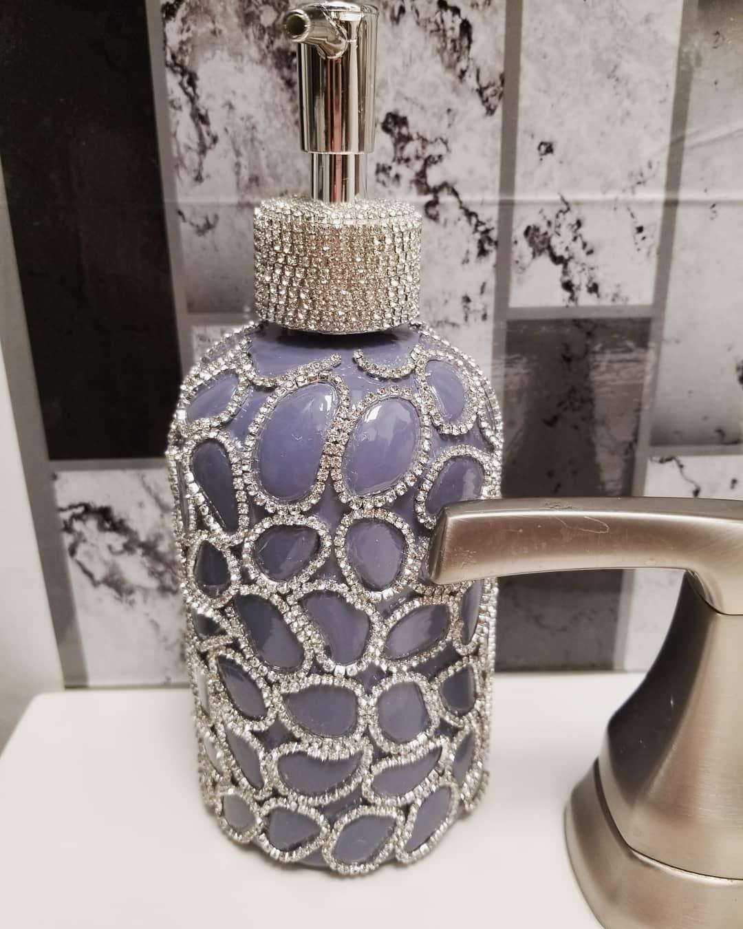 Bling for your bathroom Glam Decor Crystal Bling Soap Dispensers