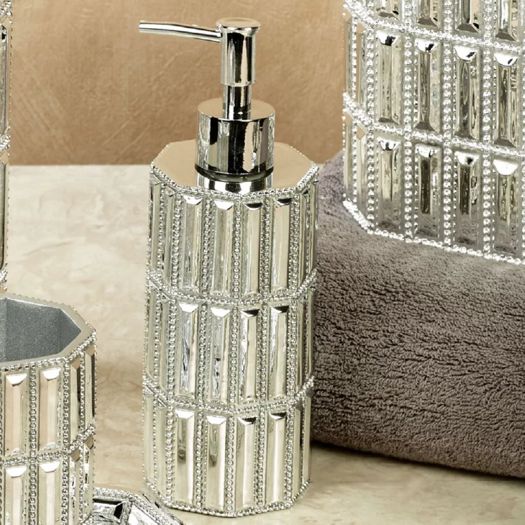 Bling for your bathroom Bling Soap Dispenser with Rhinestones