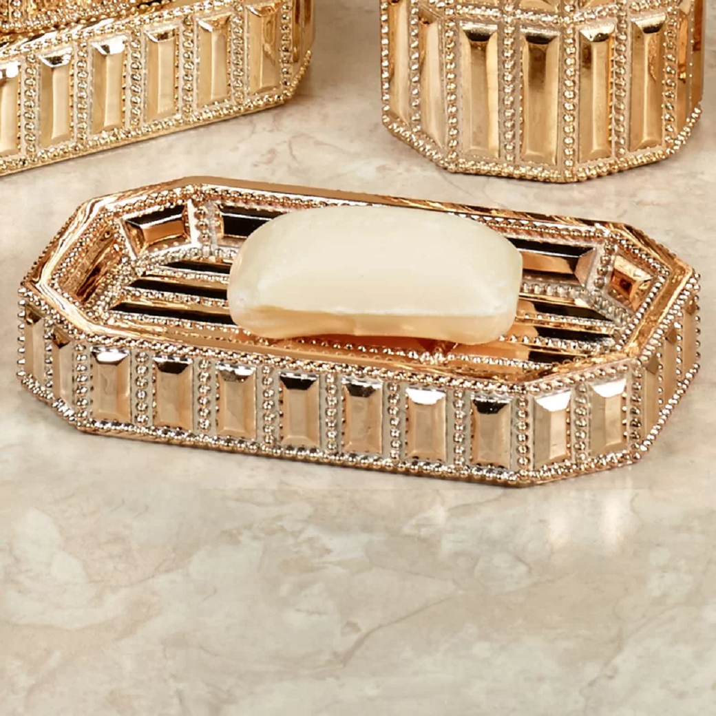 Bling for your bathroom Gold Rhinestones Soap Dish