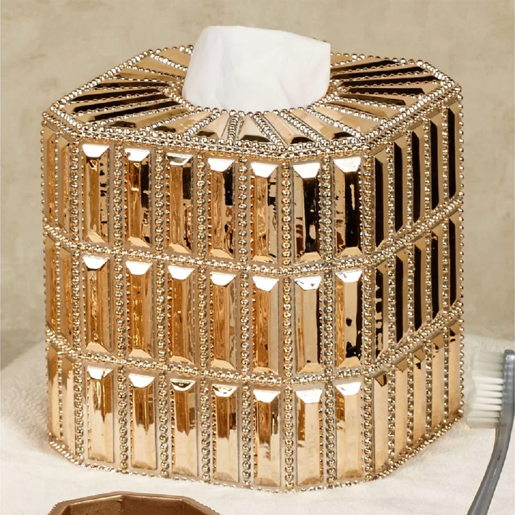 Bling for your bathroom Glittering Bathroom Tissue Box Cover