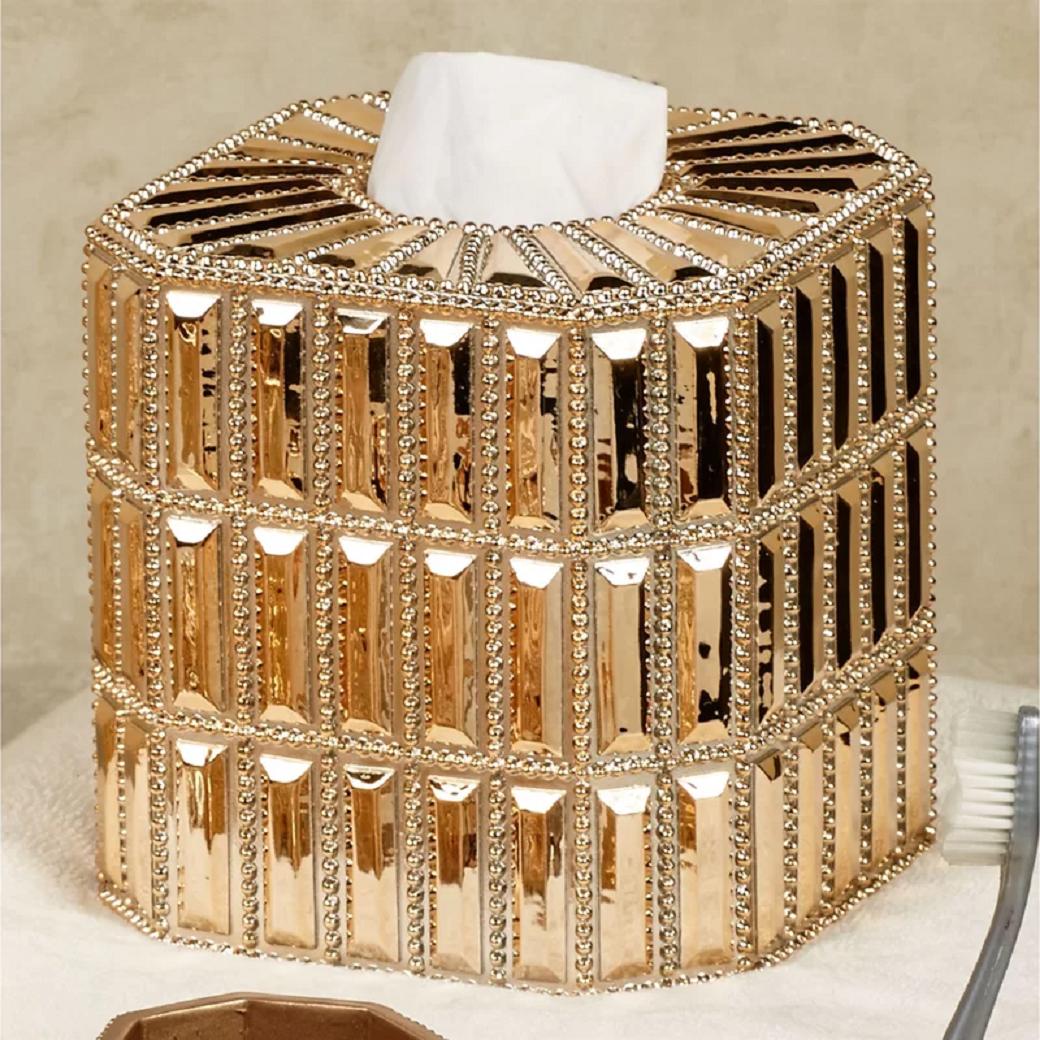 Bling for your bathroom Glittering Bathroom Tissue Box Cover